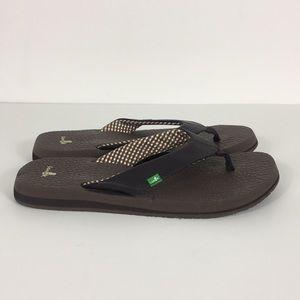 Sanuk Brown Yoga Mat Sandals